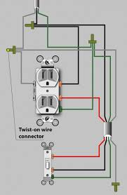 an electrician explains how to wire a switched (half hot) outlet switched electrical outlet wiring diagram diagram for a half hot switched outlet that gets power in the outlet box (