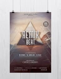 remix beat psd flyer template net remix