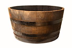 oak half barrel planter