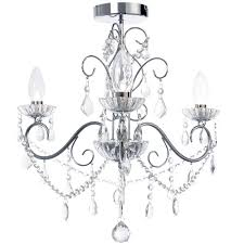 vara 3 light bathroom chandelier chrome fast free delivery