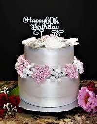 Happy 60th Birthday Cake Topper Kobasic Creations