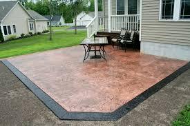plain concrete patio. Perfect Concrete Custom Concrete Patio Designs Textured Designs Plain  In S