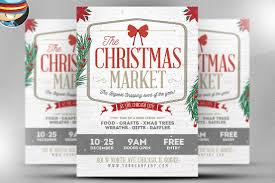 rustic christmas flyer template flyer templates on creative market