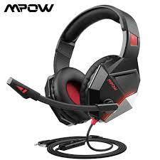 Mpow EG10 Tai Nghe Chơi Game Cho PS4 Pro PC Xbox Một Bộ Điều Khiển Di Động  Có Dây 3.5Mm PC Chơi Game Với Tiếng Ồn loại Bỏ Mic|Headphone/Headset