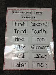 Transition Word Chart Narrative Writing Transition Words Anchor Chart Www