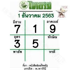 หวยไทยรัฐ 1/12/63
