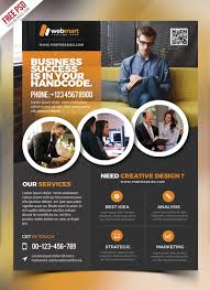 020 Template Ideas Free Psd Business Flyer Wondrous Design
