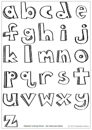 lowercase letters coloring pages