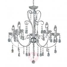 arizona crystal chandelier with five bulbs
