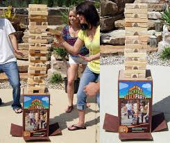 Lawn Game With Wooden Blocks Backyard Block Party Massive Outdoor Wooden Block Game The 33