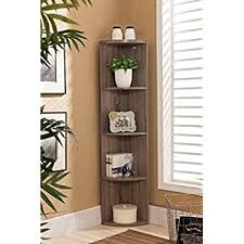 Amazoncom Kings Brand Furniture Wood Wall Corner 5 Tier Bookshelf