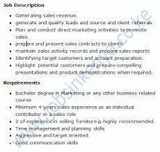 Sales Executive Job Description Furniture Sales Executive Job In Nairobi Kenya The Best Kenyan