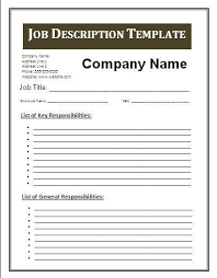 job description template - Google Search | BUSINESS ADMINISTRATION ...