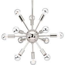 progress lighting p400040 104 ion 12 light crystal chandelier polished nickel