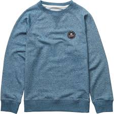 billabong all day crew boys sweaters and sweatshirts slateblue boys clothing billabong t shirts clearance recognized brands