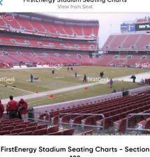 Carolina Panthers Seating Chart With Rows Cleveland 4th Row Sports Tickets For Sale Ebay