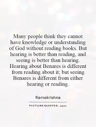 Many people think they cannot have knowledge or understanding of... via Relatably.com