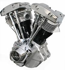 shovelhead 96ci engine for harley davidson natural finish with