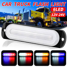 E Marked Led Light Bar Dc12 24v 18w 6 Led Amber Car Truck Emergency Beacon Warning