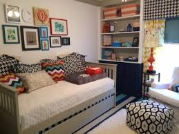 Decorating a Nursery for a Baby Boy Using a Combination of Patterns  Including Chevron and Houndstooth