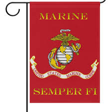 wamika us marines corps flag garden flags 12 x 18 double sided red usmc birthday military garden yard outdoor house flag banner for party home decorations
