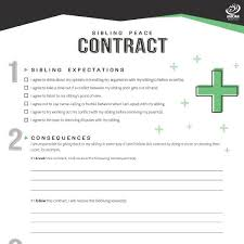 Sibling Peace Contract Imom