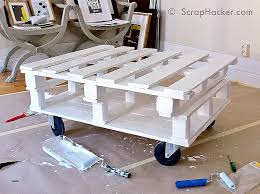 fresh paint set to dry d i y pallet coffee table tutorial