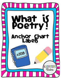 What Is Poetry Anchor Chart Labels