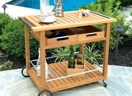 outdoor serving cart carts awesome chic bar on wheels teak tables inside ikea ping metal cart wheels antique ikea