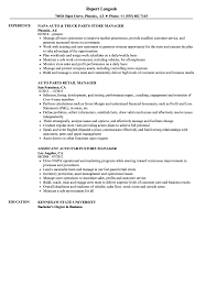 Parts Of A Resume Auto Parts Manager Resume Samples Velvet Jobs 14