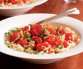 angel hair pasta with sauteed cherry tomatoes  lemon and tuna