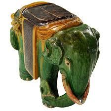 ceramic elephant garden stool garden