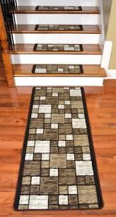 dean washable non skid carpet stair treads hop scotch beige plus runner modern stair tread rugs dean flooring company llc