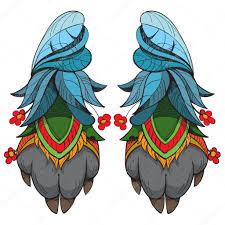 эскиз тату шаман два волка лапы шаман талисман удачи эскиз