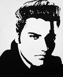elvis painting elvis black white silhouette by joseph dollison