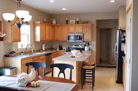 Light Grey Kitchen Walls With Oak Cabinets Kitchen Remarkable Kitchen With Lovely Light Grey Painted