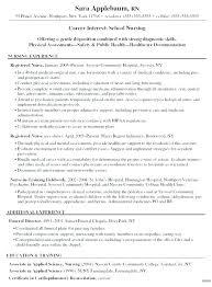Nurse Objective Nursing Resume Objectives Blaisewashere Com