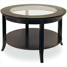 white wood glass coffee table espresso circle coffee table home decorations minimalist stained round shaped creative