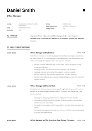 Sample Office Manager Resumes Free Office Manager Resume Sample Template Example Cv