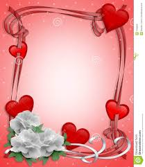Pictures Of Hearts And Flowers Valentines Day Border Hearts And Flowers Stock Illustration