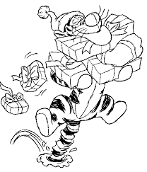 Small Picture Disney Tigger Coloring Pages Of Christmas Christmas Coloring