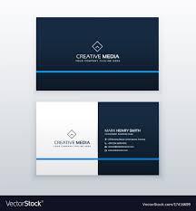 Simple Blue Business Card Design Template