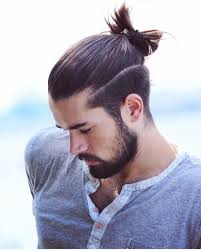 Hairstyles For Men Official Do Man With Shaved Sides And Ponytail