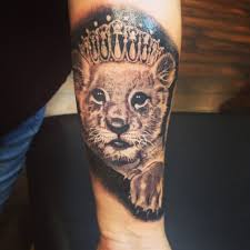 lioness with crown tattoo. Interesting With My Leo Tattoo Itu0027s A Lioness Cub Wearing Tiara To Represent My Daughter Intended Lioness With Crown Tattoo S
