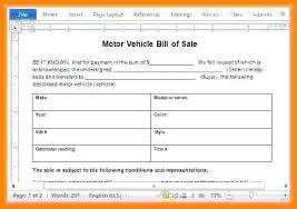 Receipt For Used Car Sale Used Car Bill Of Sale Word Car Sale