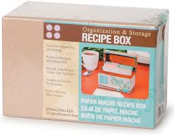 Blank Boxes To Decorate Amazon Darice Paper Mache Recipe Box 100100 by 100100 by 100100 34