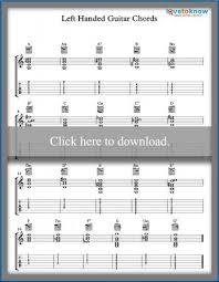Left Handed Guitar Chords Lovetoknow