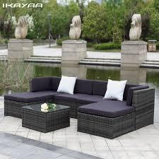 rattan garden furniture buy uk. ikayaa us uk stock patio garden furniture sofa set ottoman corner couch rattan wicker salon buy uk t