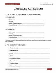 Motor Vehicle Sale Agreement 42 Printable Vehicle Purchase Agreement Templates