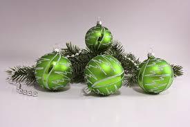 4 Weihnachtskugeln Aus Glas 6cm Kiwigrün Iris Blitz Christbaumschmuck Aus Lauscha